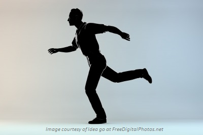 Silhouette Running w_attribution