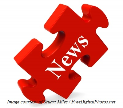 News puzzle piece red