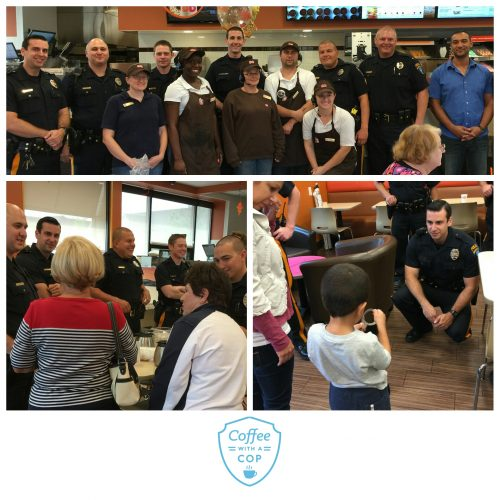 Our first Coffee with a Cop event was a great success thanks to everyone who came out. Special thanks to the Dunkin' Donuts staff and owner, Ramy Shehata, for being such gracious hosts.